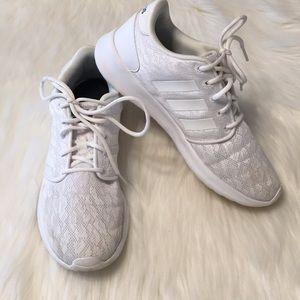 Adidas Cloudfoam QT Racer White Shoes Size 7